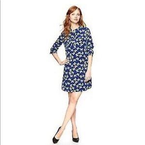 NWOT Gap butterfly print button long sleeve dress
